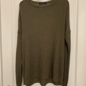 Brandy Melville Knit Green Sweater (rare)
